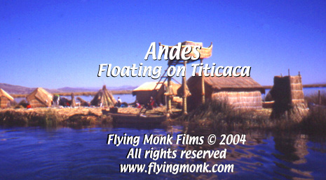 Floating on Titicaca